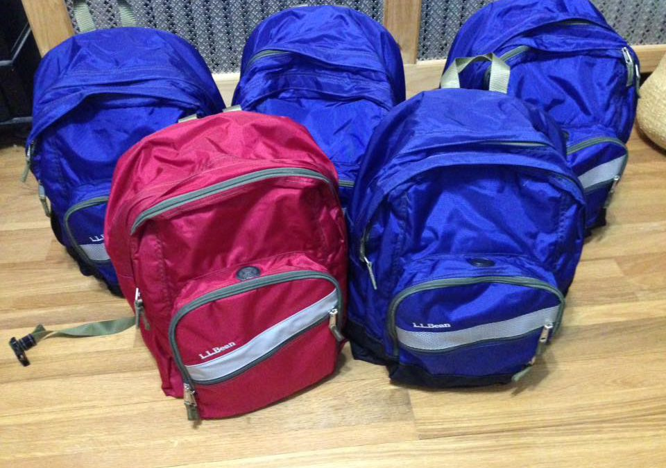 Help fill backpacks for the homeless